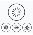 Agricultural icons Wheat corn or Gluten free vector image