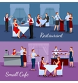 Catering Compositions Set vector image