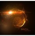 3D illuminated neon digital splash vector image