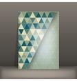 brochure flyer geometric template design vector image