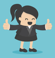 business woman show thumbs vector image