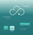 Cloud stylish logo icon and button concept vector image