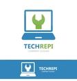 computer and laptop repair logo vector image
