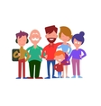 Family Generations Concept in Flat Design vector image