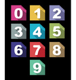 flat paper numbers set with long shadows vector image