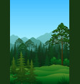 landscape trees and mountains vector image
