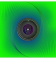 lens on the background of lines vector image
