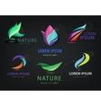 set of abstract wavy spa salon nature vector image