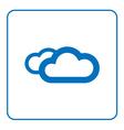 Clouds icon cartoon vector image vector image