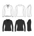 Set of female polo shirt vector image