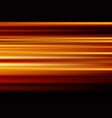 orange abstract speed motion blur of night lights vector image