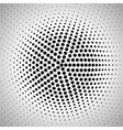 Radial halftone background vector image