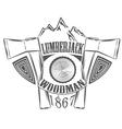 Lumberjack woodman logo and pictures vector image