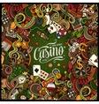 Cartoon doodles casino frame design vector image