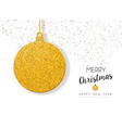 Christmas new year gold glitter holiday ornament vector image