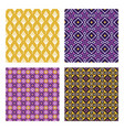 ethnic colored seamless patterns vector image