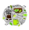 Hand drawn tea concept vector image
