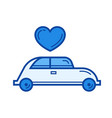 just married line icon vector image