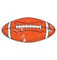 retro football ball vector image