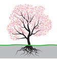 tree with blossom and roots vector image