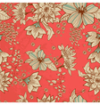 seamless red floral background vector image vector image