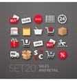 Flat icons set 20 vector image