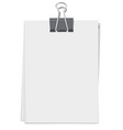 clip and stack of paper sheets vector image