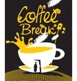 art coffee break vector image