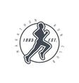 Marathon Run Club Black Label Design vector image vector image