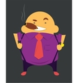 Boss or businessman with cigar with cigar in tie vector image