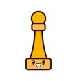 chess game piece cute kawaii cartoon vector image