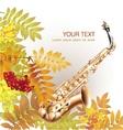 Classical saxophone alto vector image