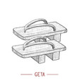 geta in hand drawn style vector image