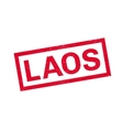 Laos rubber stamp vector image