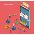 Online casino flat isometric concept vector image