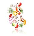 sliced vegetables concept vector image