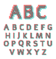 Stereoscopic circles font vector image
