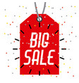 tag price big sale offer retail market icon vector image