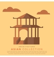 Traditional Asian architecture vector image