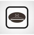 Postman cap icon Simple vector image