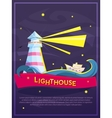 Lighthouse poster vector image