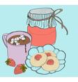 Sweet breakfast vector image