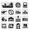 shipping and cargo icons vector image