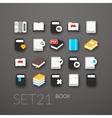 Flat icons set 21 vector image