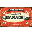 Retro car service sign vector image