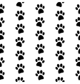 Paw symbol seamless pattern vector image vector image