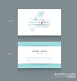 Abstract triangle stripe shape business card vector image vector image