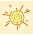 stylized sun vector image vector image
