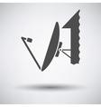 Sattelite antenna icon vector image