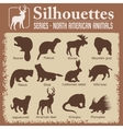 Silhouettes - North American animals vector image